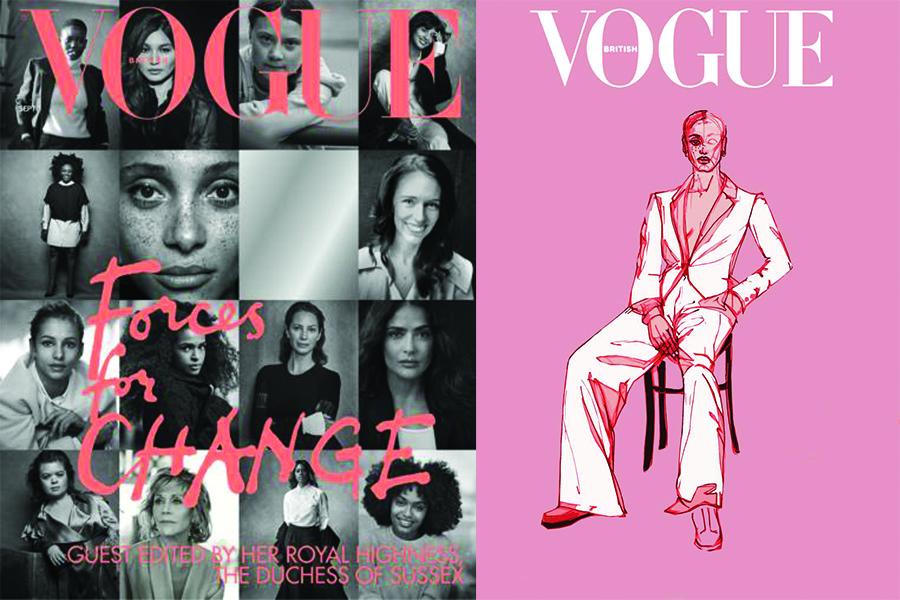 """Vogue İngiltere'den İllustratörlerin Saygısını Kazanan Kapak: """"Forces for Change"""""""